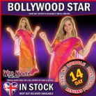 FANCY DRESS COSTUME ~ LADIES BOLLYWOOD STARLET SM 8-10